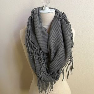 BP Nordstrom Gray Knitted Infinity Scarf